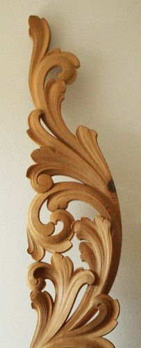 Lovely wood-carved piece