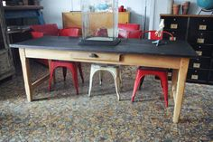 1000 id es sur table repeinte sur pinterest tables de for Table ancienne repeinte