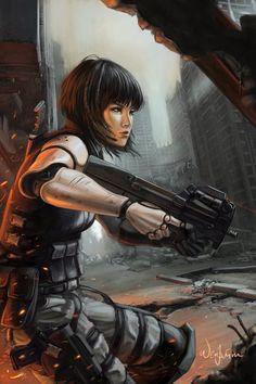 cyborg art | ... Picture (2d, sci-fi, post apocalyptic, cyborg, girl, woman
