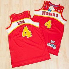 #Adidas mens atlanta hawks basketball road soul #swingman #jersey spud webb red,  View more on the LINK: http://www.zeppy.io/product/gb/2/231711386564/