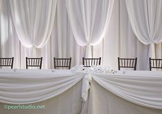 Light pink indoor Sweet table backdrop