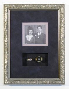 wedding photo and rings shadowbox - Carter Avenue Frame Shop Custom Picture Framing in Minneapolis, St.