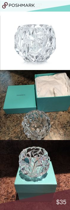 """🆕Tiffany & Co Rock Cut Votive Inspired by natural rock formations. Votive in Crystal Glass. Measures 2.75"""" high. Tiffany & Co. Other"""
