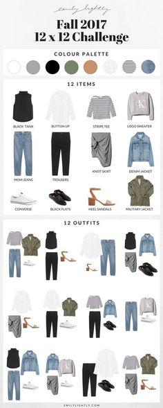 Fall 12 x 12 Challenge // Emily Lightly - Capsule wardrobe, minimalist fall style #wardrobeclassics #classiccollections #capsulewardrobe #lookbook