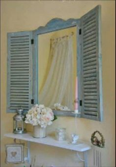Shutters with mirror