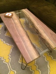 Live edge river coffee table - All