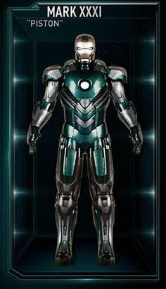 "Mark XXXI (""Piston"")  From 'Iron Man 3' (2013)"