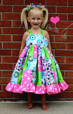 Penny's Patchwork Twirly Dress PDF Pattern by CreateKidsCouture, $10.00