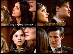 """""""You're going to fight it, aren't you?"""" - The Rings of Akhaten Haha, my favorite part!"""