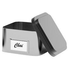 Mind Reader Lucy Loose Leaf Tea Organizer 10 Pc. - Silver/Black