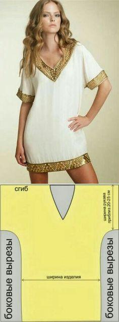 Patrón de vestido suelto
