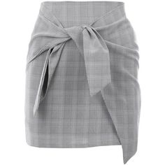 Nasty Gal It's a Tie Plaid Skirt (51 AUD) ❤ liked on Polyvore featuring skirts, mini skirts, bottoms, gonne, suknjice, mini skirt, nasty gal, high waisted skirt, plaid mini skirt and tartan plaid skirt