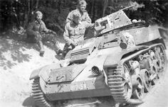 Wreaked French light recon tank AMR-33 Renault VM of WWII