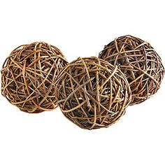 Decorative Rattan Balls Nearly Natural Decorative Balls Set Of 6  Natural Tray Decor
