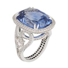 Blue Sapphire Ring With Diamonds by Fabergé