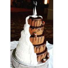 #awesome #blackandwhitecake #delicious #weddingcake