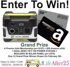 Van Life After 25 Launch Giveaway Canadian Contests, Publisher Clearing House, Support Our Troops, Enter To Win, What Inspires You, Cool Items, Survival, How Are You Feeling, Free Entry