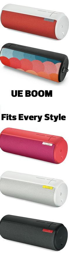 Go anywhere, sound everywhere. The UE BOOM fits all styles. Available in 5 colors.