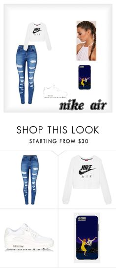 """""""Nike Air"""" by diamonds-ruby on Polyvore featuring WithChic and NIKE"""