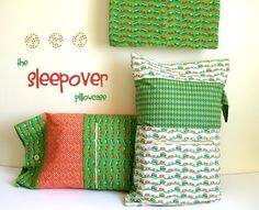 The Sleepover Pillowcase: Tutorial - has a pocket for PJs, favourite toy or book and has a little handle as well
