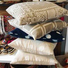 Bogolan cushions