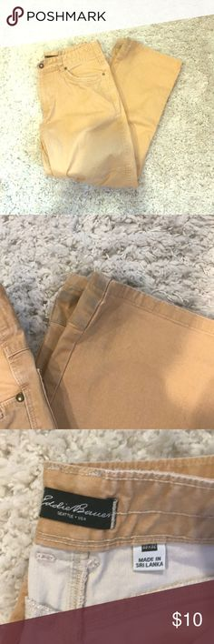 Eddie Bauer Khaki Jeans/Pants Eddie Bauer Khaki Jeans/pants.  33x32. Is some wear at the bottom. Make sure to check our pics! Eddie Bauer Jeans