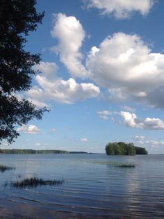 Views to the pyhäjärvi lake in Finland.