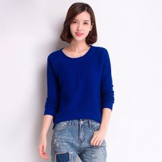 new fashion Casual winter autumn thick loose women sweater long sleeve O-neck Solid color knitted pullover girls female clothing