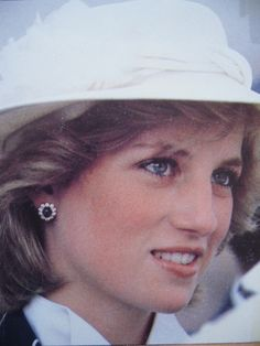 April 19, 1983: Princess Diana during a visit to the Manukau Fire Department in Manukau, New Zealand.