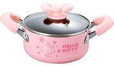 Sanrio Hello Kitty Pink Heart Soup Pot Cooking Pan by JapanBargain Kitchen Items, Kitchen Dining, Hello Kitty Kitchen, Cast Iron Dutch Oven, Sanrio Hello Kitty, Cooking Time, Cute Food, Kitchenware, Home Kitchens