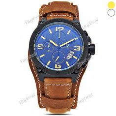 Stylish Luxury Sport Pagani Military Quartz Dial Men Stainless Steel Case Date Leather Band Wrist Watch WWT-367675