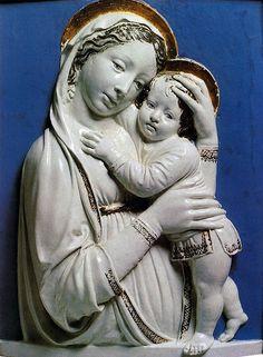 Luca della Robbia -  Madonna co Bambino - Detroit, Institute of Arts