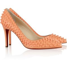 Christian Louboutin Pigalle Spikes 85 leather pumps