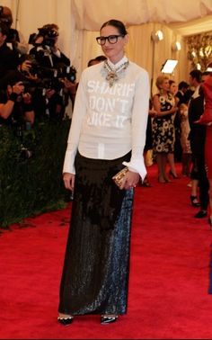 jenna lyons met ball 2013 - One of the only people on the red carpet who actually made a reference to punk.