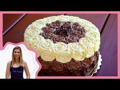 SÜTIK BIRODALMA: Citromkrémes torta csokoládé rózsákkal Chocolate Roses, Rose Cake, Pavlova, Goodies, Birthday Cake, Mint, Recipes, Food, Sweet Like Candy