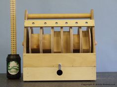 Wooden Bonsai Wire Caddy with Tool Draw
