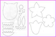 návod sova a kvet
