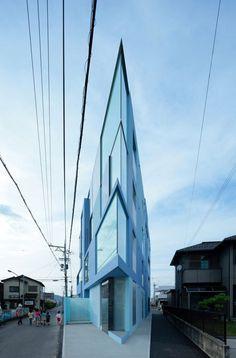 """""""On The Corner"""" apartment block in Youkaichi City, Shiga Prefecture, close to Kyoto in Japan."""