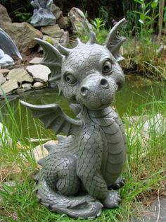 Puckator Figurine Dragons Malicieux Welcome Clay Dragon, Dragon Art, Magical Creatures, Fantasy Creatures, Figurine Dragon, Kobold, Cute Dragons, Dragon Statue, Sculpture