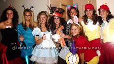 Most Creative Group Costume – Alice in Wonderland!… Enter the Coolest Halloween Costume Contest at http://ideas.coolest-homemade-costumes.com/submit/