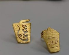 Handmade Gemstone JewelrySterlingBrassNickel silver von KqJewels Gold Rings, Jewels, Gemstones, Etsy, Silver, Handmade, Accessories, Bird Earrings, Minimalist Earrings