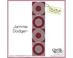 Peyote Beading Pattern Jammie Dodger  by VikisBeadingPatterns, $6.50
