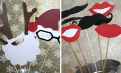 These holiday family photoshoot props are absolutely adorable!