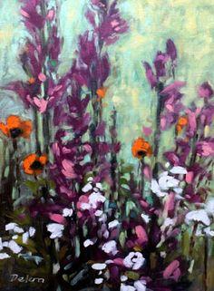 "Ivy Delon Fine Art-""Poppies and Phlox I"""