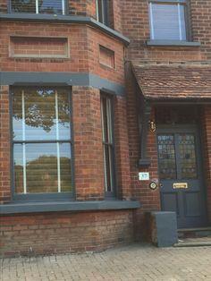 70 Ideas Exterior Paint Victorian Home Window Victorian Homes Exterior, Victorian Porch, Edwardian House, Victorian Windows, 1920s House, Victorian Houses, Best Exterior Paint, Grey Exterior, Exterior Design