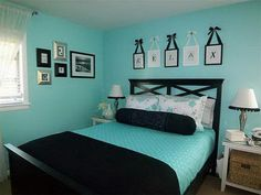 Best Beautiful Turquoise Room Decoration Ideas for Inspiration Modern Interior Design and Decor. more search: turquoise room ideas teenage, turquoise bedroom ideas, turquoise living room ideas, turquoise room decorating ideas. Black Bedroom Design, Bedroom Black, Dream Bedroom, Home Bedroom, Girls Bedroom, Bedroom Ideas, Bedroom Colors, Bedroom Rustic, Black Bedrooms