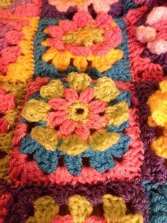 Beautiful hand made crocheted bright baby pram by NellsCraftCorner