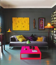 My bedroom looks a lot like this but would be nice for future living room. Abigail Aherne grey living room