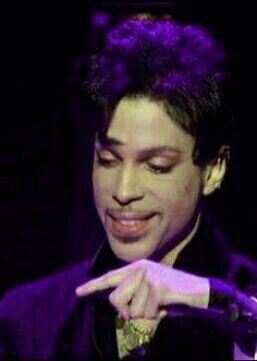 Prince in a purple light.  <3