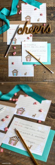 #ThankYouCards #KidsThankYouCard #PrintableCards #Stationery www.LiaGriffith.com: